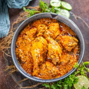 Simple and easy to make, this Dhaba-style chicken curry is the most flavorful curry you can make. Bring back the memories of the road trip eateries right on your dining table with this easy recipe.