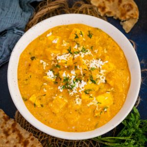 Paneer Lababdar is a creamy and luscious North Indian curry where paneer cubes and grated paneer are simmered in a rich onion-tomato-based gravy. Make this restaurant-style dish at home using my easy and simple recipe.