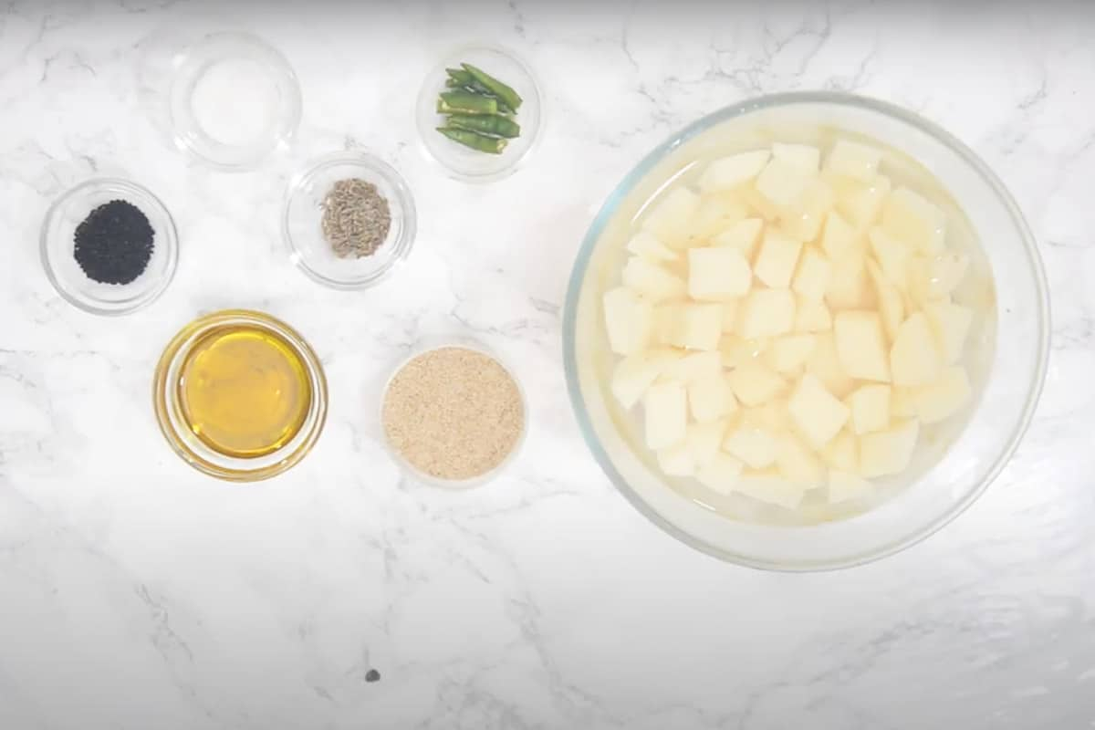 Aloo Posto Ingredients
