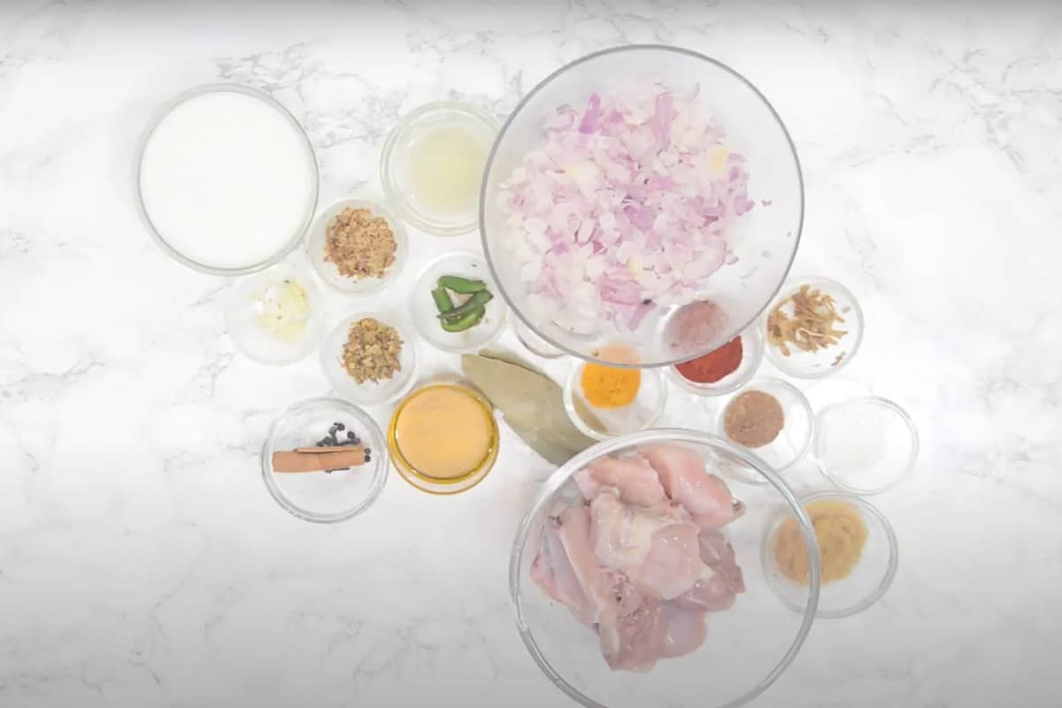 Ginger Curry Ingredients.