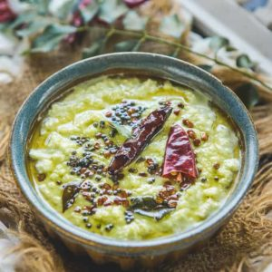This South Indian Green Coconut Chutney goes perfectly well with Idli Dosa and Vada and is a breeze to make. The subtle taste of coriander mingled with coconut makes it very different too. Here is how to make Green Coconut Chutney (Step by Step).