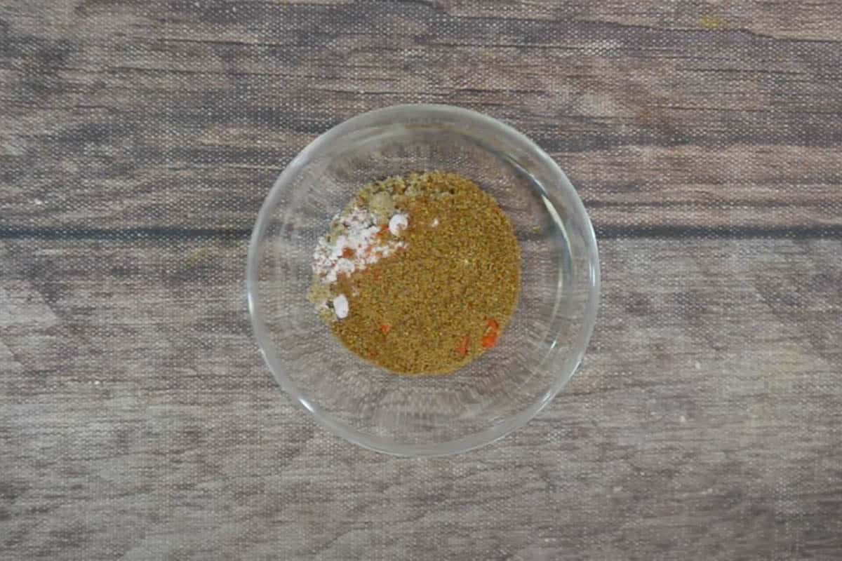 Jeeravan masala ingredients added to a bowl.