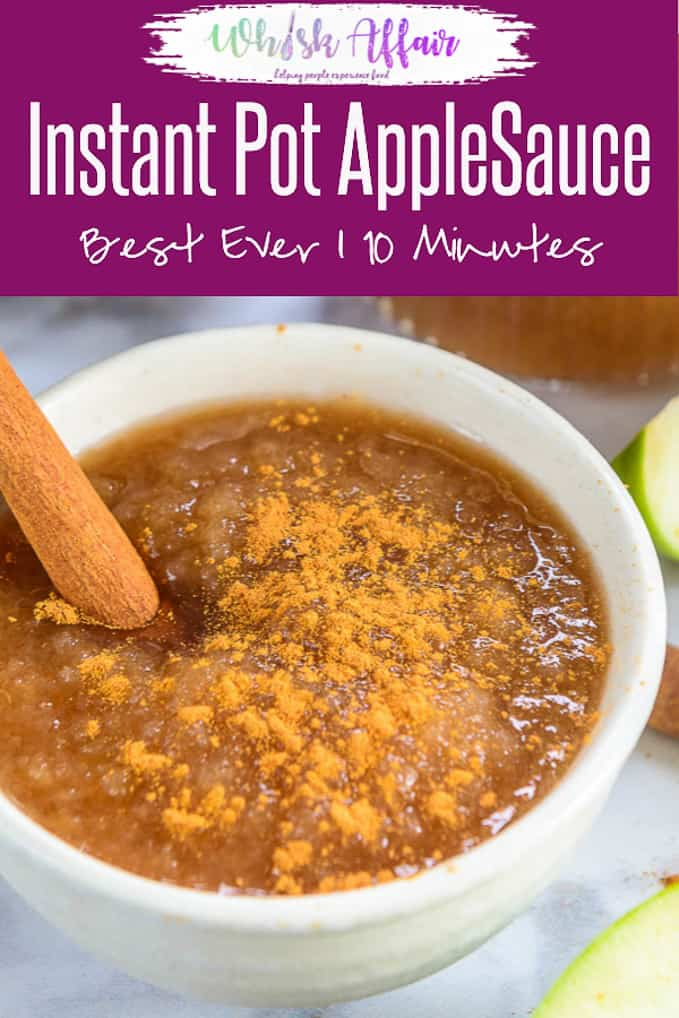 All made under 10 minutes of cook time, Instant Pot Applesauce is a great dessert top up that is kids' all time favourite. Pepped up with a pinch of cinnamon and lemon juice, this applesauce recipe is perfect to start your instant pot cooking! Here is how to make Instant Pot Applesauce Recipe. #InstantPot #Apple #Fall #Recipe #Basics #Cooking