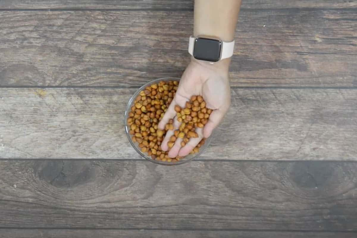 Soaked chickpeas.