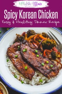 Spicy, crisp and smothered with Korean marinade, Korean Chicken is quite appetizing. Instead of a takeout, you can make the best grilled Sheet Pan Korean Spicy Chicken easily at home in no time. Here is how to make Korean Chicken Recipe. #Chicken #Recipe #Korean #Asian #Dinner #Healthy