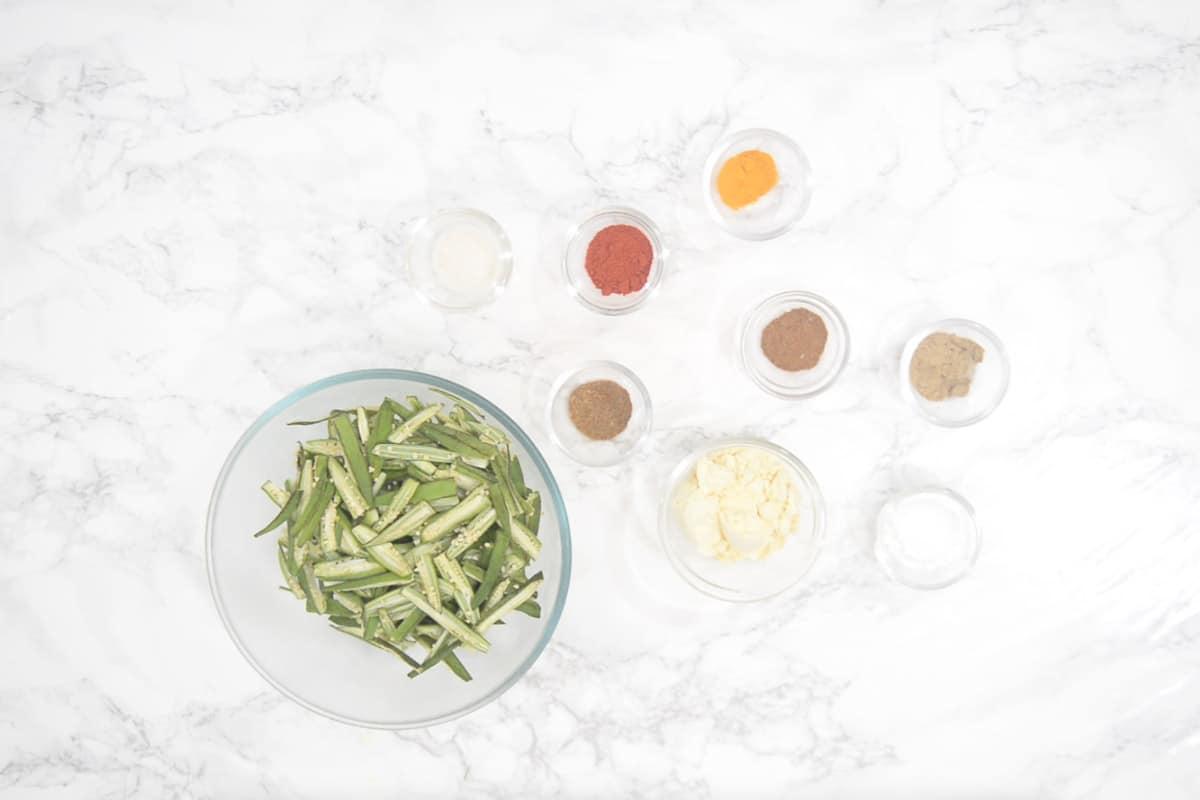 Kurkuri Bhindi Ingredients