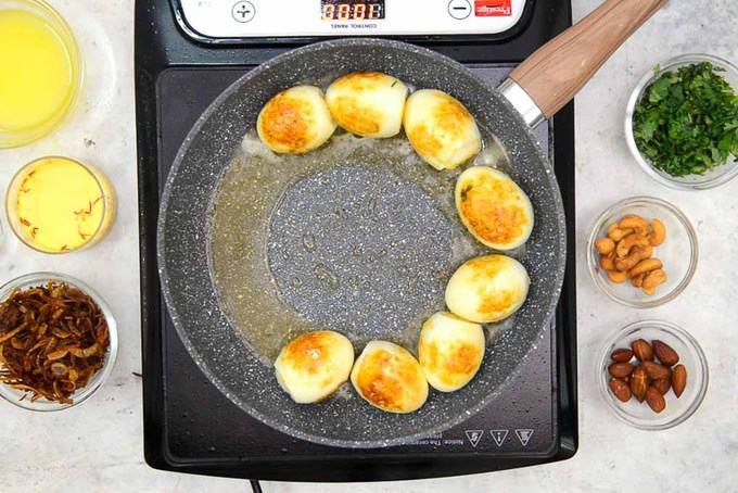 Fried eggs.