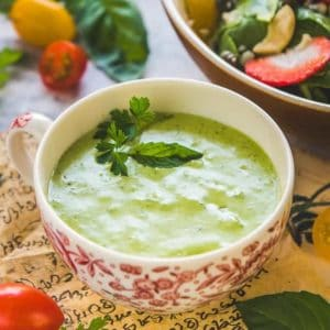 Considered as almost the empress of all the dressings made in the world, Green Goddess Salad Dressing tastes the best when homemade!