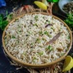 Jeera rice is a Indian style Rice dish flavoured with cumin. This goes very well with indian curries and lentils.