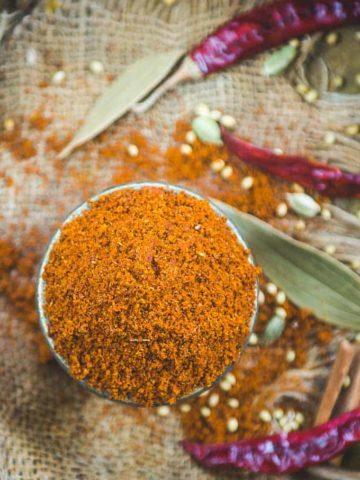 Dabeli Masala kept in a bowl.