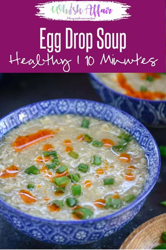 Make this Chinese Egg Drop Soup for a healthy dinner. It's easy and simple to make and gets ready in under 20 minutes. Add chicken or Shrimp to make KETO version. Here is how to make Egg Drop Soup Recipe. #Healthy #Soup #Keto #GlutenFree #Dinner #Asian #Chinese