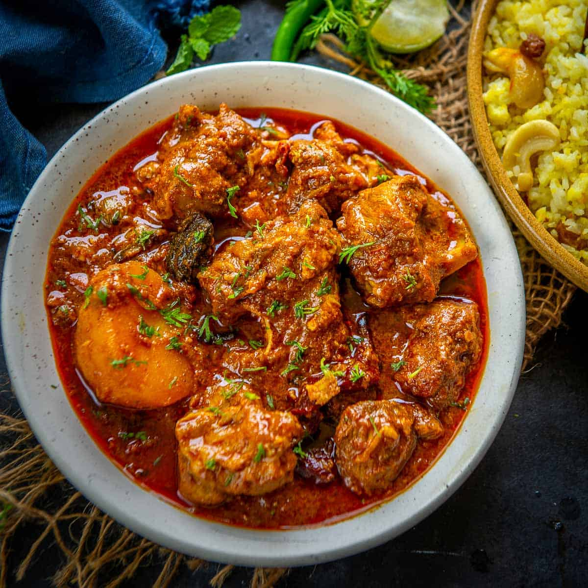 Kosha Mangsho Recipe (Bengali Mutton Curry) + Video - Whiskaffair