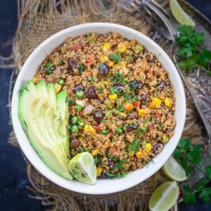 Light, healthy, and nutritious, Mexican Quinoa is an easy-to-make dish that comes together in under 30 minutes. It's made in just one pot where all the ingredients come together to make a medley of flavors.