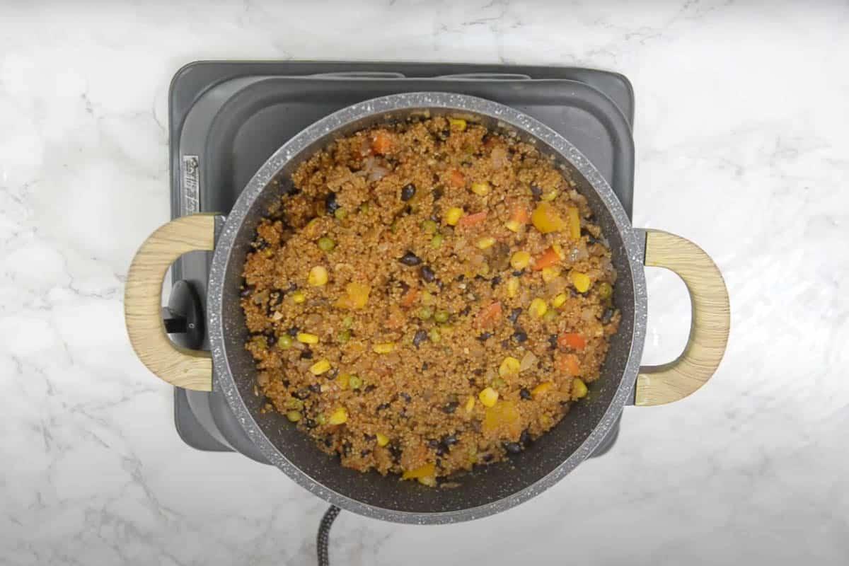 Ready Mexican quinoa.