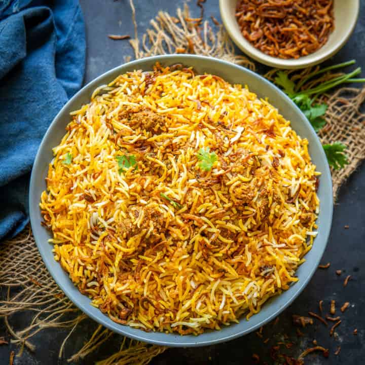 Straight from the land of Nizams, Mutton Biryani is a regal dish that does not need any special mention or patronage. This biryani is made in two styles, one is Kacche Gosht Ki Biryani and the other is Pakke Gosht Ki Biryani.