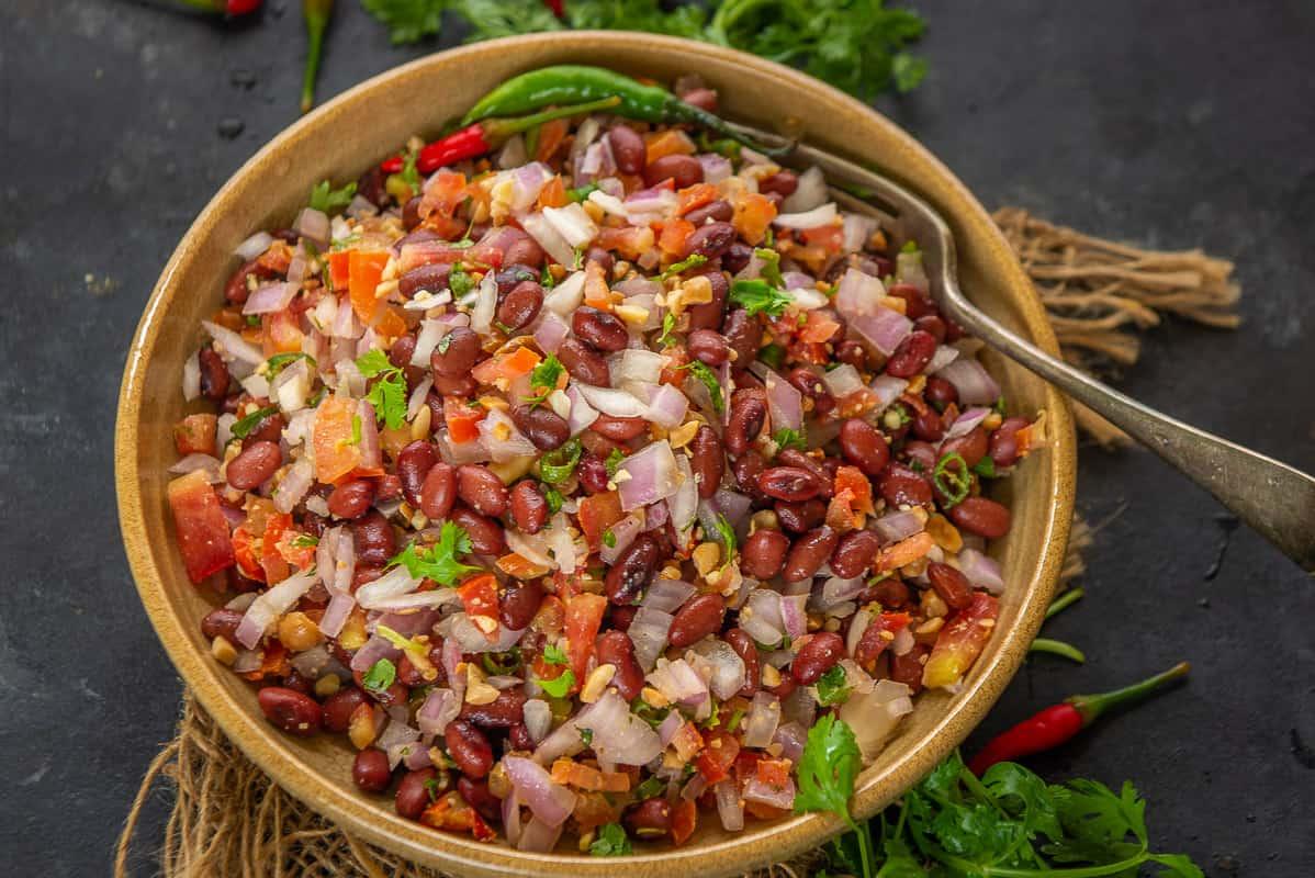 Kidney Bean Salad Recipe Step By Step Video Whiskaffair