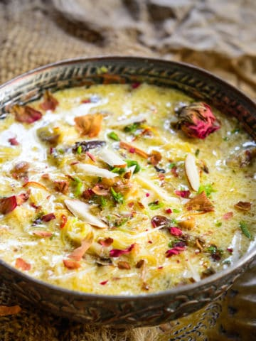 Hyderabadi Sheer Khurma or Sheer Korma is a traditional recipe that is a must-make for the festival of Eid. This Eid dessert is made using nylon vermicelli cooked in milk and dry fruits. Saffron is added to it for a unique flavor. Here is a step by step recipe of how to make it.