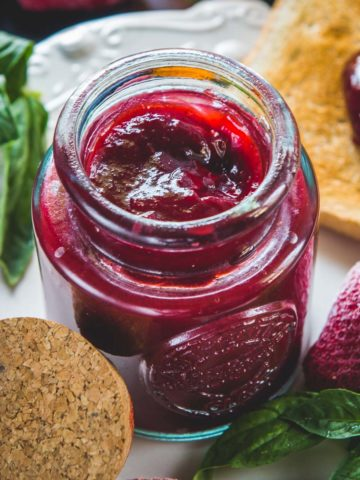 Made using fresh juicy strawberries and no pectin, this delicious homemade strawberry jam comes together in under 30 minutes. Make a big batch, freeze and use the entire year.