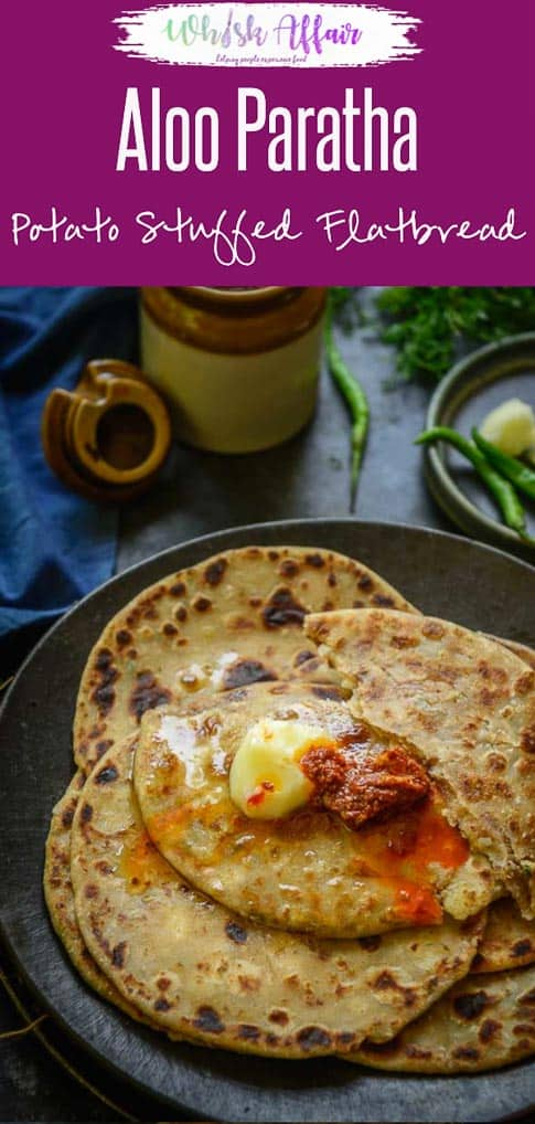 Aloo Paratha is a Punjabi style stuffed flatbread made using whole wheat flour and a spicy potato filling. Serve it for breakfast, brunch or any meal of the day, you are going to love it. Here is how to make Aloo Paratha Recipe. #AlooParatha #AlookaParatha #indian #Bread #Breakfast #Brunch #Recipes