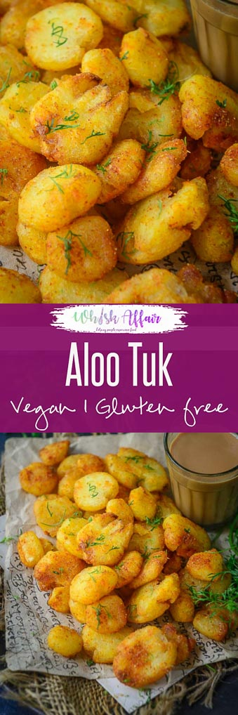 Aloo Tuk or Sindhi Tuk is a delicious double fried potato dish that is quite addictive. Eat it as snack or serve it as a side with any meal, you are going to fall in love with it. Here is how to make Aloo Tuk or Sindhi Tuk. #AlooTuk #SindhiTuk #Potato #Fried #Crispy #Snack #SideDish #indian