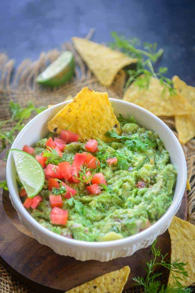 Guacamole Dip served in a bowl.