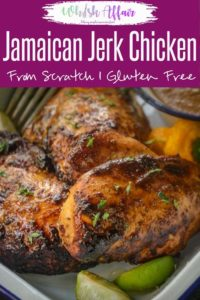 Try this easy baked Jamaican Jerk Chicken made from scratch and I am sure you will fall in love with this Caribbean traditional dish. Here is how to make Jerk Chicken Recipe. #JerkChicken #Jamaican #Caribbean #MainCourse #Authentic #Traditional #best #Grilled #baked