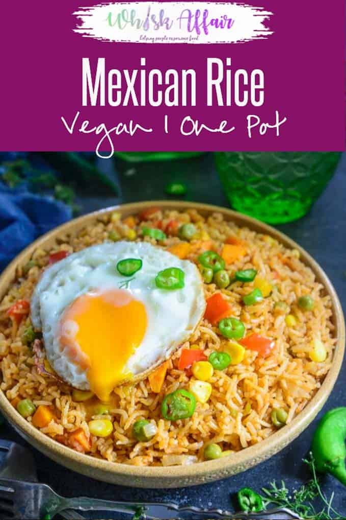 Mexican Rice is a delicious spicy rice based dish loaded with Mexican flavours. It is full of vegetables and other healthy ingredient and is fantastic to make for family meals. Check out my easy, homemade recipe to make this dish in an authentic style. Here is how to make Mexican Rice Recipe. Do try it soon if you love vegan, vegetarian Mexican meals. #Mexican #Vegan #Vegetarian #Hoemmade