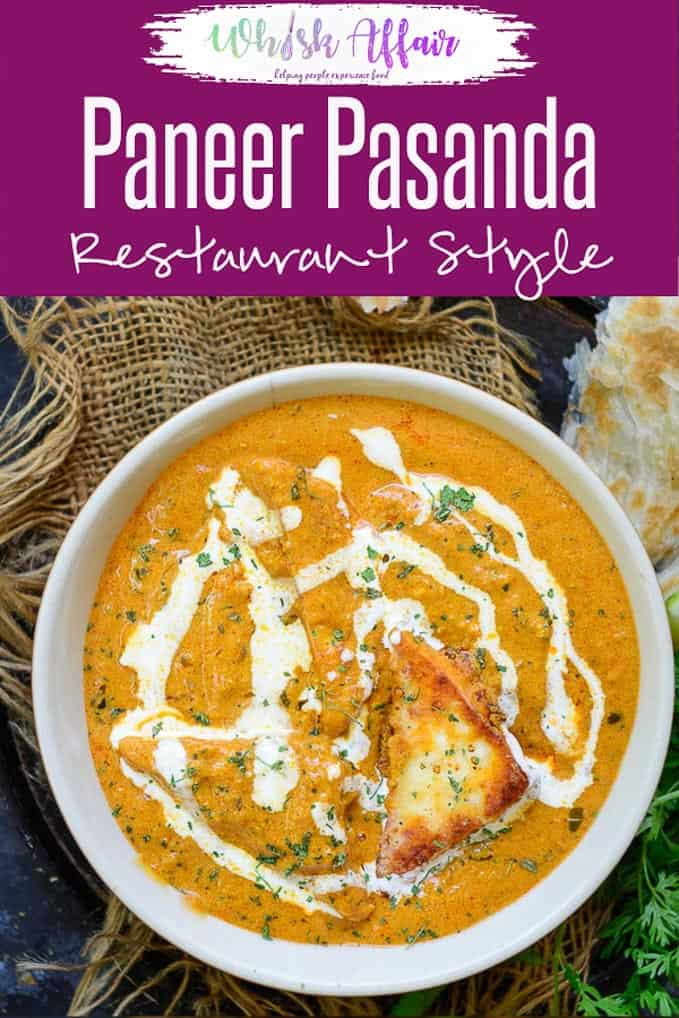 Paneer Pasanda are paneer triangles stuffed with rich khoya mixture and then shallow fried in a thick, creamy, tomato based gravy. #Paneer #Recipe #Indian #PaneerPasanda