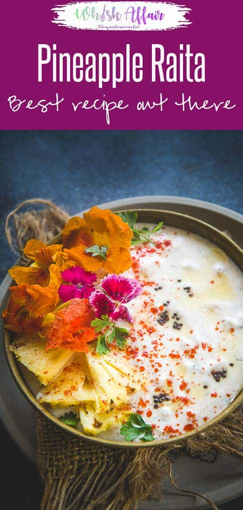 Make this easy Restaurant Style Pineapple Raita at home using my simple recipe and see yourself falling in love with the dish all over again. Here is how to make Pineapple Raita Recipe. #Indian #Accompaniment #Vegetarian #GlutenFree
