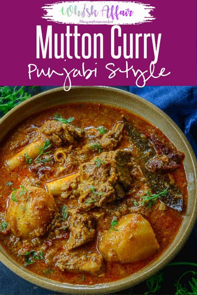 Make this super delicious Punjabi Mutton Curry just like a local. This curry is spicy, loaded with flavours and very easy to make. Here is how to make Punjabi Mutton Curry Recipe. #Indian #Lamb #Curry #Punjabi #Mutton