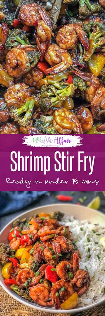 An instant meal to serve under 30 minutes, Shrimp Stir Fry is a healthy, simple saute of shrimps, veggies and exotic sauces. You may serve this Asian meal as it is or with noodles or with rice. Here is how to make Shrimp Stir Fry Recipe. #FishandSeaFood #Shrimp #Healthy