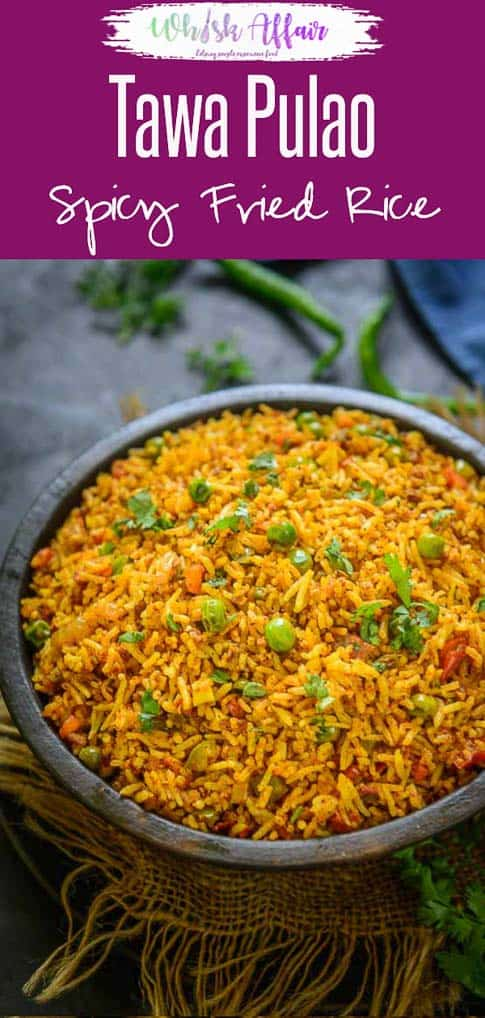 Tawa Pulao is a popular Mumbai street food and is super easy to make. Leftover rice works best for this recipe and is a super hit with kids too. Indian I Mumbai I street I food I recipe I Photography I styling I Easy I simple I best I quick I leftover I rice I #RiceRecipes #Ricedish #DinnerRecipes #TawaPulao #Indian