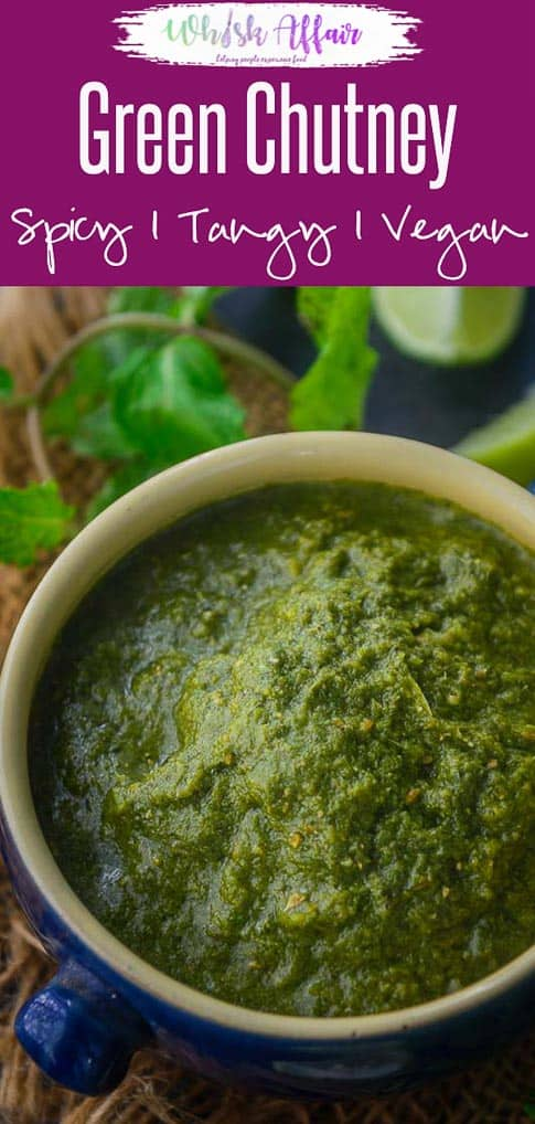 Green Chutney or Hari Chutney is a spicy and tangy chutney made primarily using fresh coriander and mint. This Indian accompaniment is best to serve with snacks or with Indian meals. Here is how to make Green Chutney Recipe. #GreenChutney #Indian #Spicy #Accompaniment #ChutneyRecipes