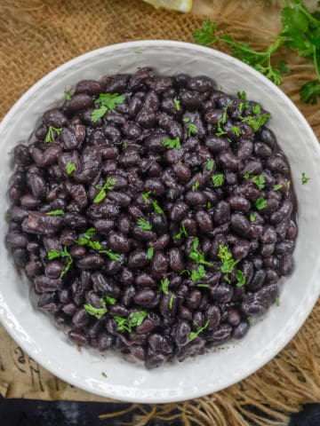 These Instant Pot Black Beans are a breeze to make at home. This process requires no soaking of bean and no draining of the extra liquid.