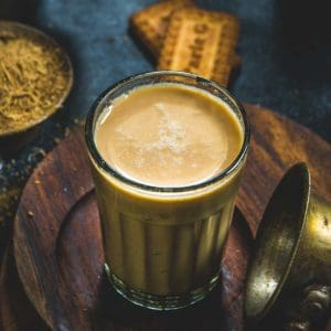 Masala Chai or Masala Tea is a very popular Indian drink made using tea leaves, milk, and spices. It comes together in under 10 minutes using 4 ingredients and one pot. Learn to make this authentic Indian beverage at home.