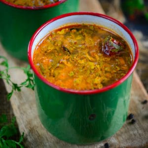 Milagu Rasam or Pepper Rasam is a South Indian dish that is best served with rice or can be sipped as soup. It is a perfect remedy for cold and cough. Here is how to make it.