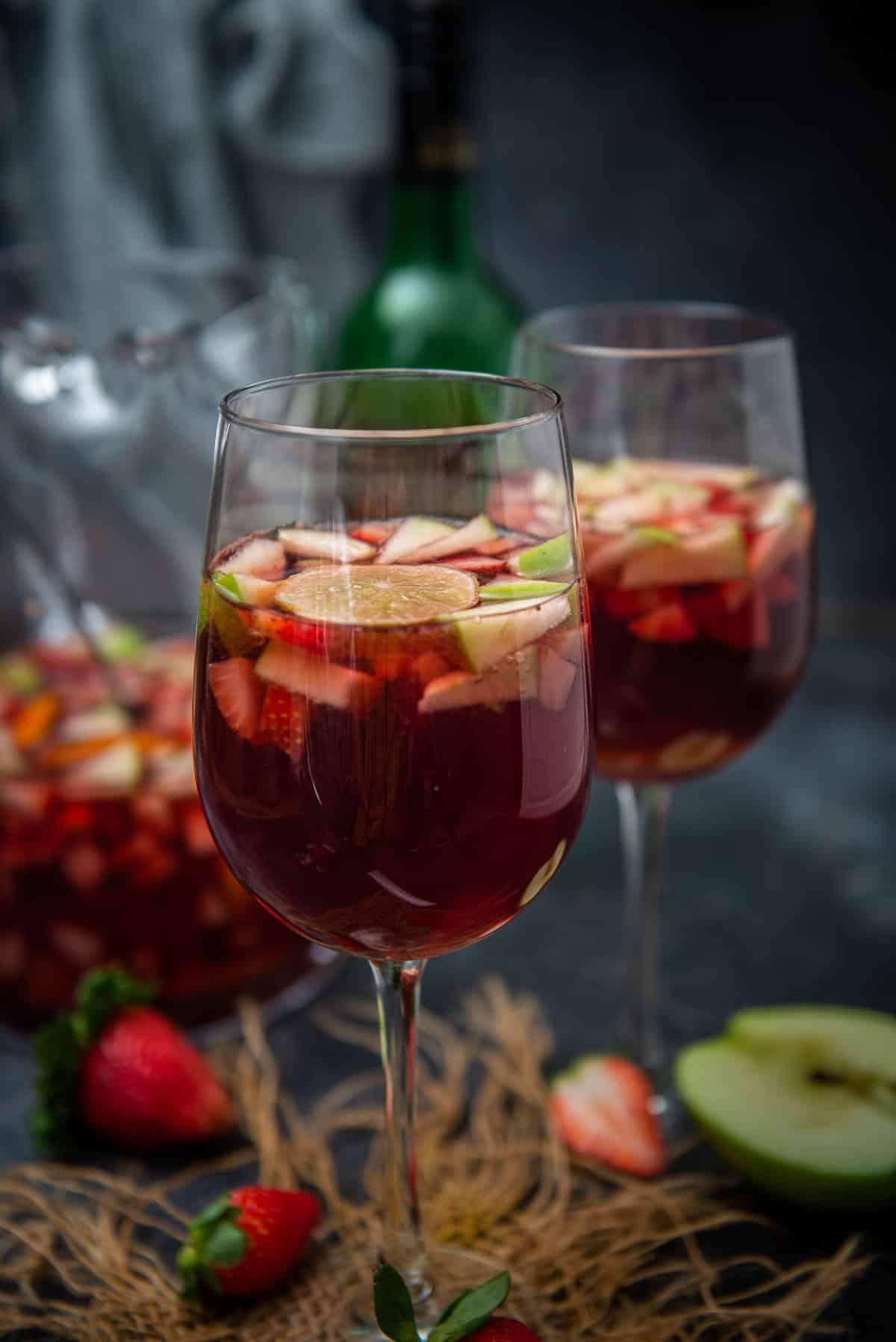 Red Wine Sangria Recipe Step By Step Video Whiskaffair