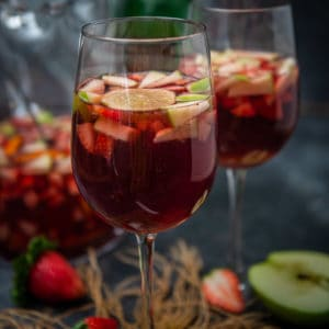 Make this fruity, refreshing, and boozy red wine sangria for your next get-together. This wine mixed drink comes together in just 10 minutes of prep time and can be customized as per your needs.