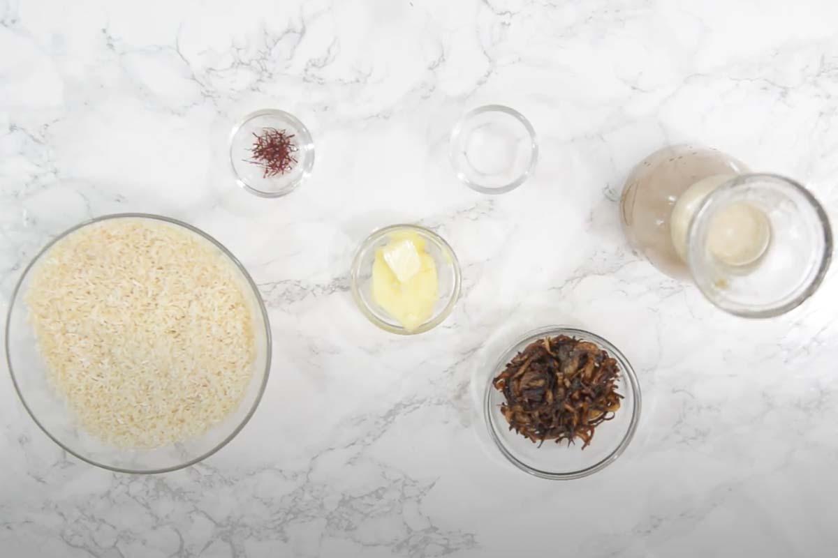 Persian Saffron Rice Ingredients.