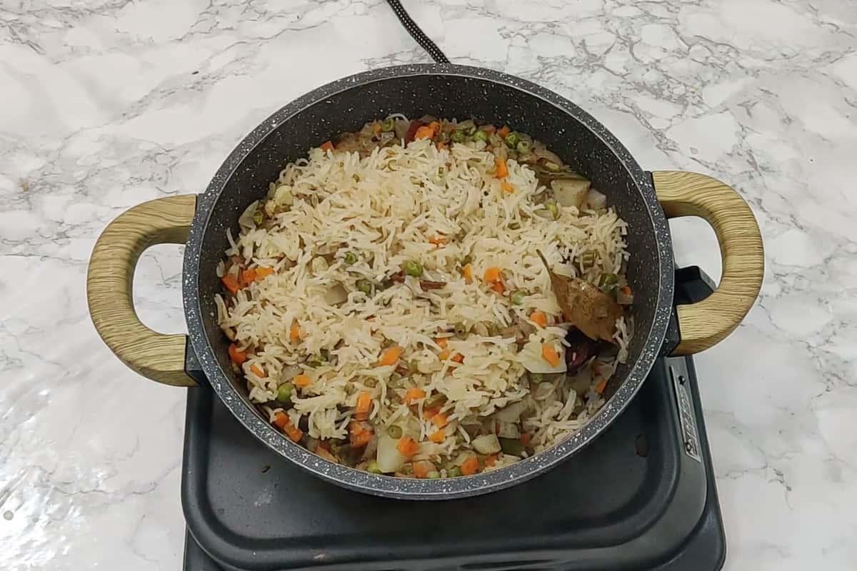 Ready veg pulao.