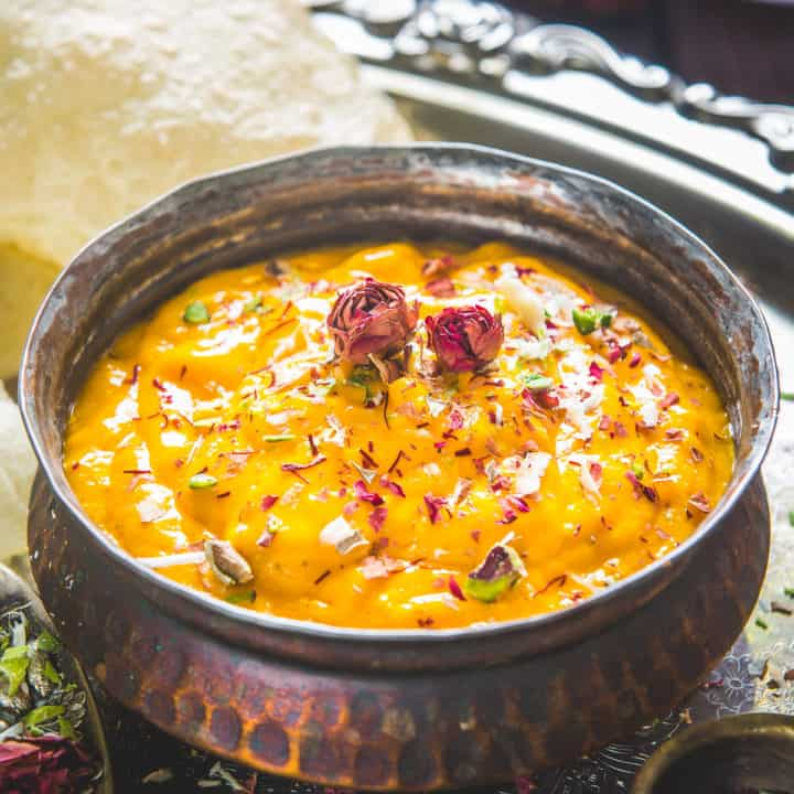 Aamras is a famous Gujarati and Maharashtrian dish made by pureeing ripe mangoes with sugar and cardamom powder. Here is how to make it at home.