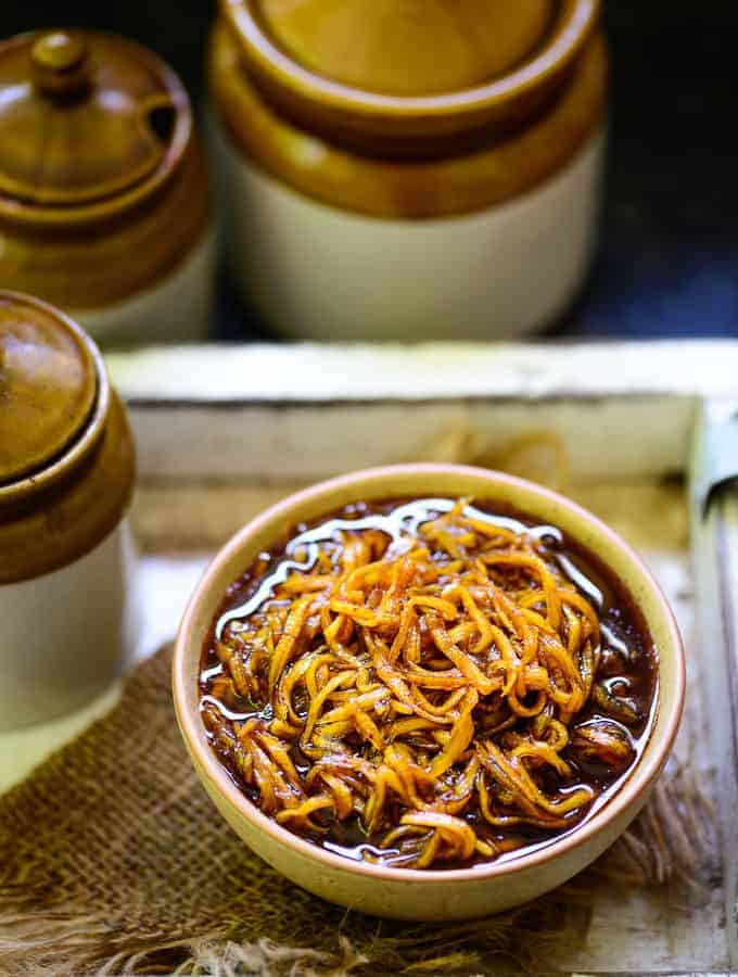 Chunda served in a bowl.