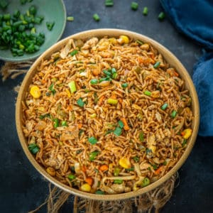 Got a day old rice? Want to revamp it? Make this quick and easy, not to mention uber delicious stir-fried Egg Fried Rice in a skillet or wok in minutes! It is more than just a simple healthy Chinese side dish and gets made in a jiffy as well! So here is how to make homemade fried rice with egg recipe.