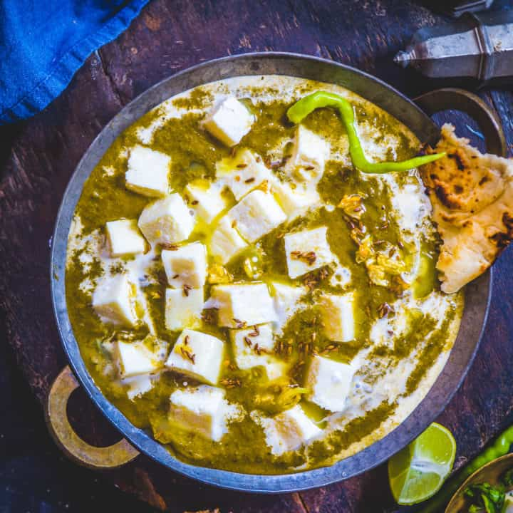Palak Paneer is a quintessentially Indian dish, a favorite across the length and breadth of India. Made using Paneer (Indian Cottage Cheese) and Spinach puree, this restaurant-style dish is a delight to eat with any Indian bread. Here is how to make it.