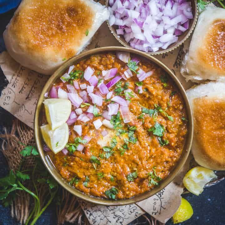 Pav Bhaji is a popular snack from Maharashtra, especially Mumbai, which is a mish-mash of a variety of vegetables and spices served with a special bread called pav. This dish can be had for lunch, evening snack, or dinner. I have a little secret that I got from a street vendor to make the best bhaji and you would definitely want to know it too.