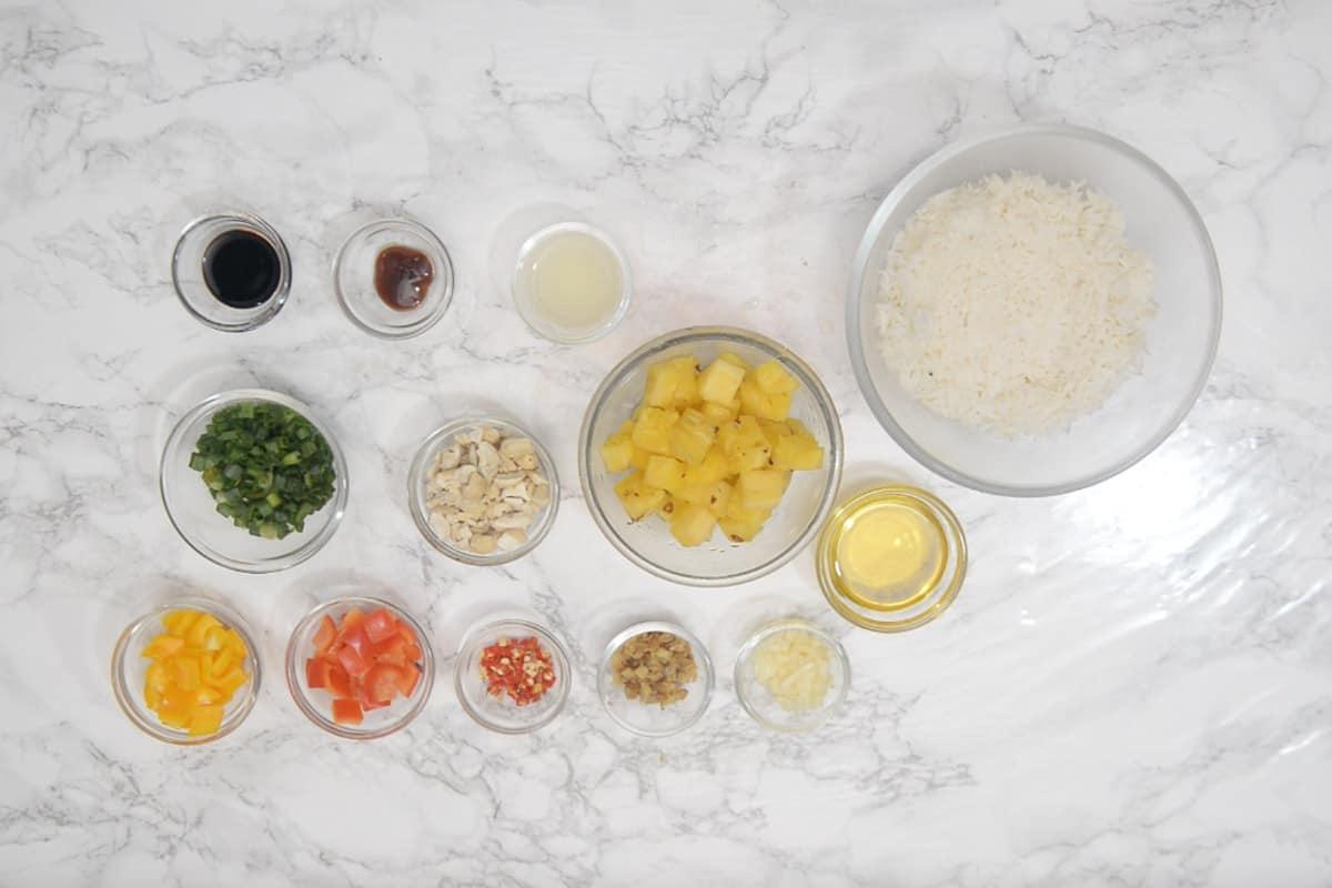 Thai Pineapple Fried Rice Ingredients