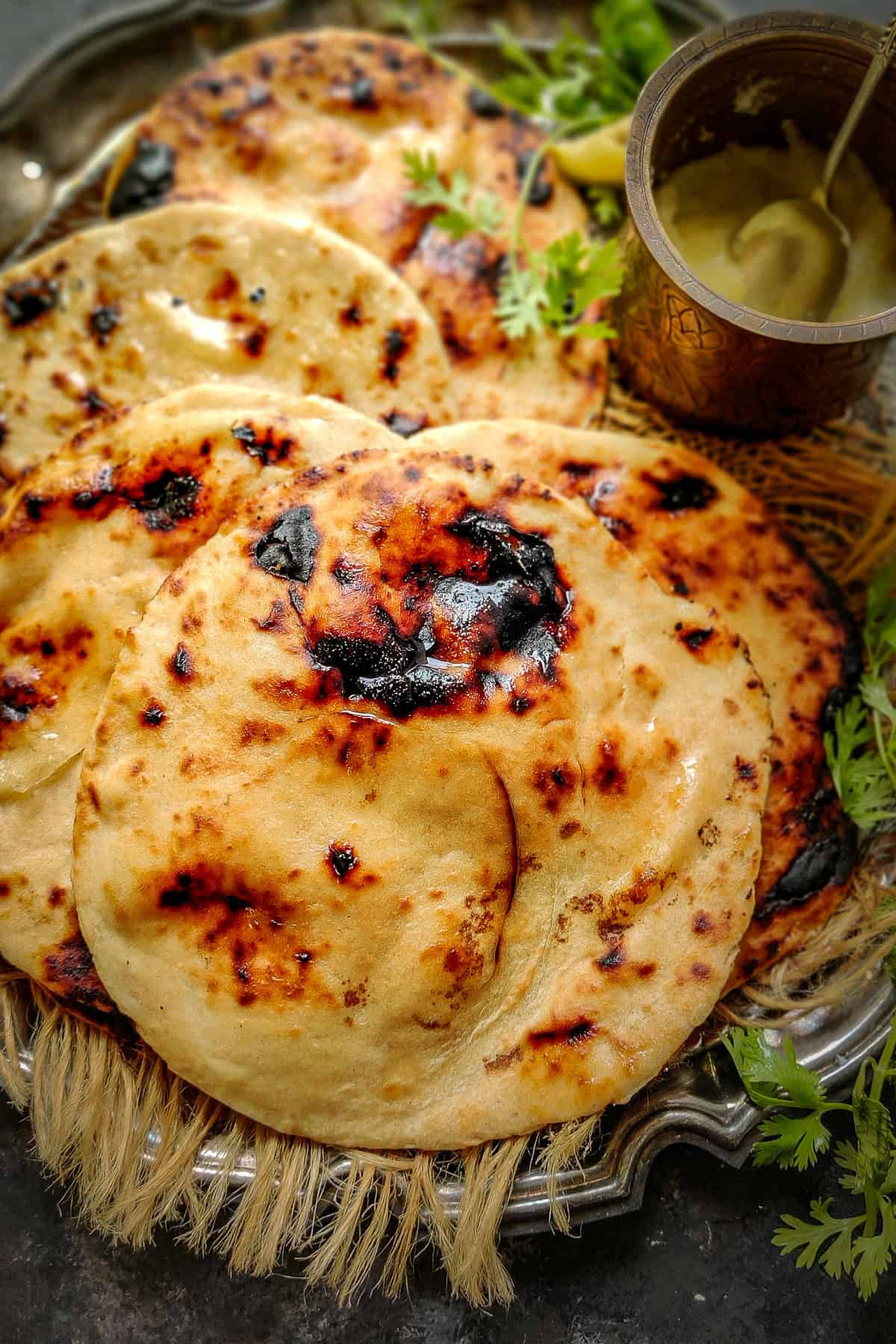 Tandoori Roti served on a plate.