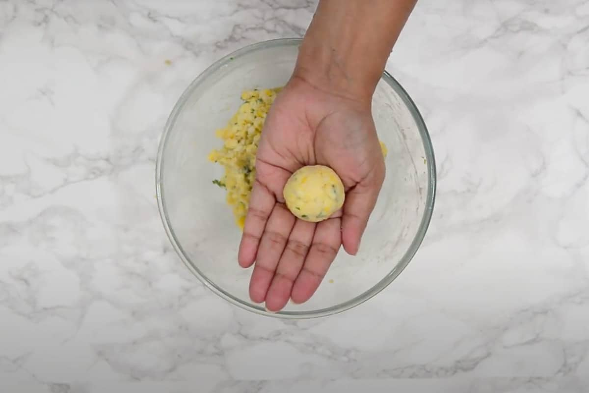 Small ball made from the mixture.