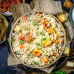Paneer Pulao is a healthy and delicious rice dish which can be made under 30 minutes and makes for a great lunch box option. Here is how to make Paneer Pulao Recipe.