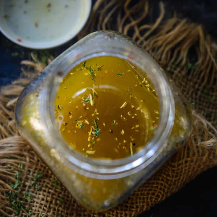 This homemade Italian Dressing is a healthy Salad Dressing which is very easy to make and tastes amazing. You can make it using very few ingredients and it keeps well for a long time.